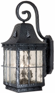 Vaxcel ED-OWD090TB Edinburgh Traditional Textured Black Finish 12.5 Wide Exterior Wall Sconce Lighting