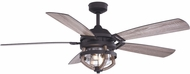 Vaxcel F0055 Barnes Matte Black and Rustic Oak LED Ceiling Fan