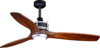 Vaxcel F0057 Curtiss Modern Matte Black and Brushed Silver L.E.D. Outdoor Ceiling Fan