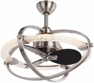 Vaxcel F0074 Galileo Modern Satin Nickel LED Home Ceiling Fan