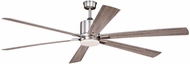 Vaxcel F0079 Wheelock Contemporary Satin Nickel LED Home Ceiling Fan