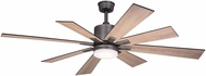 Vaxcel F0081 Crawford Modern Dark Nickel LED Ceiling Fan