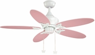 Vaxcel FN44322W Angela White Finish 44 Wide Home Ceiling Fan