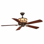 Vaxcel FN56305BBZ Yellowstone Country Burnished Bronze Finish 56  Wide Ceiling Fan