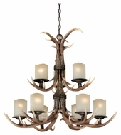 Vaxcel H0014 Yoho Rustic Black Walnut Finish 29.5  Tall Chandelier Lighting