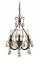Vaxcel H0035 Alicia Gold Flake Bronze Finish 13  Wide Mini Chandelier Lighting