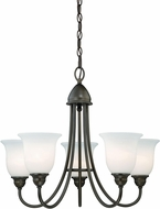 Vaxcel H0064 Concord Oil Rubbed Bronze Ceiling Chandelier