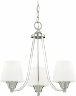 Vaxcel H0098 Calais Satin Nickel Mini Chandelier Light