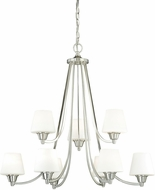 Vaxcel H0100 Calais Satin Nickel Lighting Chandelier