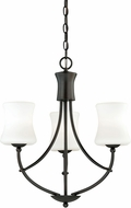 Vaxcel H0104 Poirot New Bronze Mini Hanging Chandelier