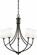 Vaxcel H0105 Poirot New Bronze Chandelier Light