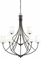 Vaxcel H0106 Poirot New Bronze Chandelier Lighting