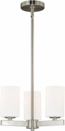 Vaxcel H0121 Glendale Satin Nickel Mini Hanging Chandelier