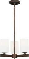 Vaxcel H0122 Glendale Sienna Bronze Mini Chandelier Light