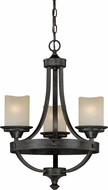 Vaxcel H0136 Halifax Aged Walnut Mini Chandelier Light