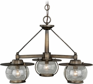 Vaxcel H0137 Jamestown Nautical Parisian Bronze Exterior Mini Chandelier Lighting