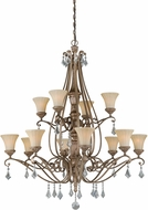 Vaxcel H0138 Avenant French Bronze Lighting Chandelier