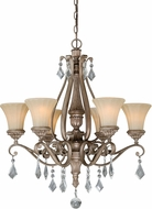 Vaxcel H0139 Avenant French Bronze Chandelier Lamp