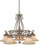 Vaxcel H0141 Avenant French Bronze Ceiling Chandelier