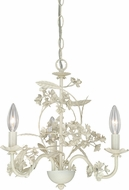 Vaxcel H0143 Leilani Traditional Antiqued White Mini Chandelier Light