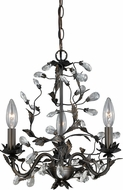 Vaxcel H0149 Trellis Architectural Bronze Mini Hanging Chandelier