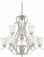 Vaxcel H0151 Hartford Satin Nickel Chandelier Lighting