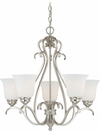 Vaxcel H0153 Hartford Satin Nickel Chandelier Lamp