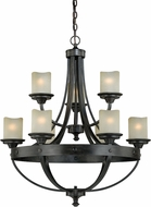 Vaxcel H0158 Halifax Black Walnut Chandelier Light