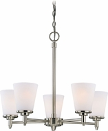 Vaxcel H0164 Eastland Satin Nickel Chandelier Lighting