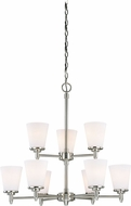 Vaxcel H0165 Eastland Satin Nickel Lighting Chandelier