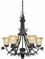 Vaxcel H0170 Sierra Black Walnut Chandelier Light