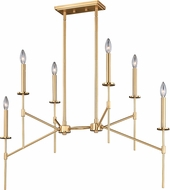Vaxcel H0179 Kedzie Modern Natural Brass Chandelier Light
