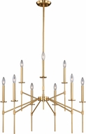 Vaxcel H0180 Kedzie Contemporary Natural Brass Ceiling Chandelier