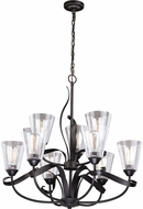 Vaxcel H0187 Cinta Modern Oil Rubbed Bronze Lighting Chandelier