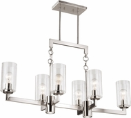 Vaxcel H0190 Addison Modern Satin Nickel LED Kitchen Island Lighting