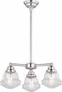 Vaxcel H0213 Huntley Modern Satin Nickel Mini Chandelier Lighting