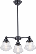 Vaxcel H0215 Huntley Modern Oil Rubbed Bronze Mini Chandelier Lamp