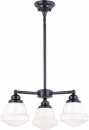 Vaxcel H0216 Huntley Contemporary Oil Rubbed Bronze Mini Chandelier Light
