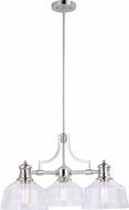 Vaxcel H0220 Beloit Contemporary Satin Nickel Chandelier Lighting