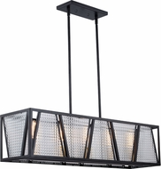 Vaxcel H0224 Oslo Contemporary Black with Natural Brass Kitchen Island Lighting