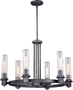 Vaxcel H0227 Astor Modern Brushed Slate Chandelier Light