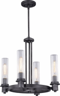 Vaxcel H0228 Astor Contemporary Brushed Slate Mini Ceiling Chandelier