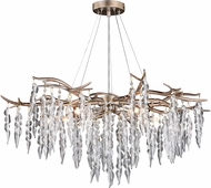 Vaxcel H0230 Rainier Modern Silver Mist Lighting Chandelier