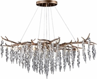 Vaxcel H0231 Rainier Contemporary Silver Mist Chandelier Lamp