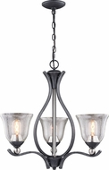Vaxcel H0232 Seville Satin Nickel Mini Chandelier Light