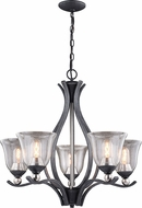 Vaxcel H0233 Seville Satin Nickel Ceiling Chandelier