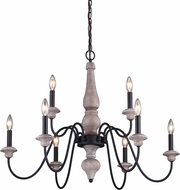 Vaxcel H0237 Georgetown Traditional Vintage Ash with Oil Burnished Bronze Chandelier Lighting