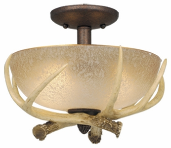 Vaxcel LK33012WP-C Lodge Rustic Weathered Patina Finish 12.5 Wide Fan Light