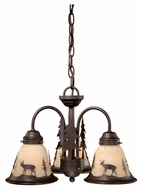 Vaxcel LK55416BBZ-C Bryce Rustic Burnished Bronze Finish 16  Wide Fan Light