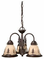 Vaxcel LK55516BBZ-C Yosemite Rustic Burnished Bronze Finish 16  Wide Fan Light